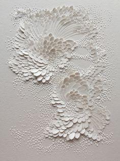 Good inspiration but less romantic Bas-relief en papier aquarelle grain satiné, format 20x15cm // Lauren Collin