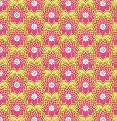 Heirloom Fabric by Joel Dewberry for Free Spirit, Chrysanthemum in Blush