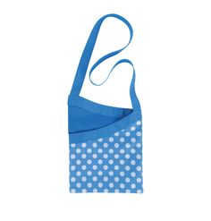 Beautiful polka dot peg bag in teal and white colours from #elliottclean - with shoulder strap for extra comfort!