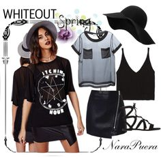 WHITEOUT Spring by narminq on Polyvore featuring Moschino, Zara, Gianvito Rossi and MANGO