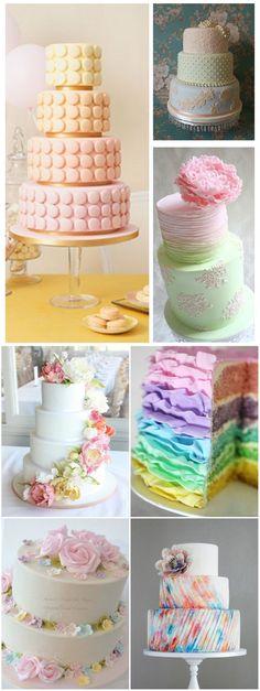 creative pastel wedding cake ideas of 2016