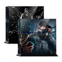 Skin Decal Sticker For Ps4 Console Cuh-1200 Series Pop Skin Design Second Son#02 Video Game Accessories Faceplates, Decals & Stickers