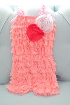 Pink Lace Baby Romper-