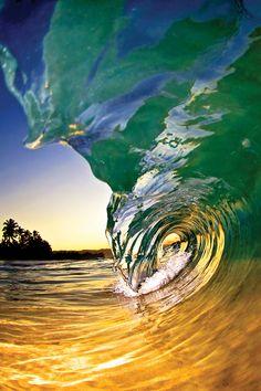 ~~Twilight • wave on the North Shore of Oahu, Hawaii  •  Making Waves Clark Little | FINE Magazine~~