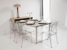 Space saving/Table murale, design et décorative pour un gain de place optimal (Source : http://gaindeplace.fr/portfolio-view/table-depliante-murale/) #dinner-table #space-saving