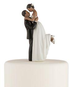 Look what I found on #zulily! True Romance Dark Tone Cake Topper #zulilyfinds