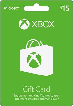 Microsoft - $15 Xbox Gift Card, XBOX MICROSOFT GIFT CARD 2015