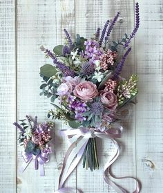 2019 brides favorite weeding color stylish shade of purple--elegant wedding flow. 2019 brides favorite weeding color stylish shade of purple–elegant wedding flowers, diy bridal bouquets with ribbon, spring weddings, outdoor weddings, … Spring Wedding Colors, Purple Wedding Flowers, Bridal Flowers, Spring Weddings, Rustic Purple Wedding, Lavender Wedding Bouquets, Wedding Ideas Purple, Bridal Bouquet Diy, Light Purple Wedding