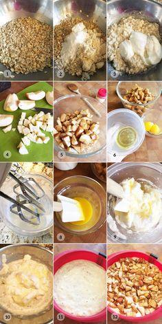 Ovesný jablkový koláč - zdravý fitness recept by Bajola Cereal, Fitness, Healthy Recipes, Erika, Breakfast, Diet, Breakfast Cafe, Healthy Eating Recipes, Excercise