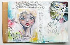 12/10/2015 Art Journal Spread - Let's Face It, by soapHOUSEmama