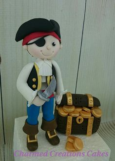 Hey, I found this really awesome Etsy listing at https://www.etsy.com/listing/233081089/pirate-with-treasure-cake-topper-edible