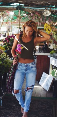 Love this outfit. - Street Fashion, Casual Style, Latest Fashion Trends - Fashion New Trends Spring Summer Fashion, Spring Outfits, Spring Hair, Outfit Summer, Style Summer, Casual Summer, Surfer Girl Style, Surfer Girl Fashion, Surfer Girl Outfits
