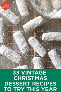 33 Vintage Christmas Dessert Recipes to Try This Year - - Just like Grandma (or Great-Grandma! Christmas Deserts, Christmas Goodies, Holiday Desserts, Holiday Treats, Christmas Holidays, Christmas Recipes, Holiday Recipes, Christmas Parties, Holiday Foods