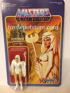 2017 EXCLUSIVE SUPER 7 MOTU MASTERS OF UNIVERSE TEMPLE OF DARKNESS SORCERESS MOC