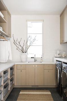 4 Elevated Laundry Room Essentials Mudroom Laundry Room, Laundry Room Design, Laundry Area, Grey Slate Tile, Floating Vanity, Slate Flooring, Studio Mcgee, Room Essentials, Room Accessories