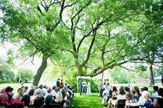 at WIA  - ceremony in park just beside it   HRM Photography | Blog | Jess & Dan Toronto Island Wedding