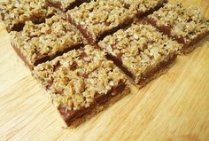 No Bake Chocolate Peanut Butter Oat Bars...super easy.  I think I would add a little more oat, and a little less brown sugar next time, but this is a definite keeper, and we will be making these many more times!