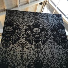 """287 Likes, 8 Comments - Timorous Beasties Official (@timorous_beasties) on Instagram: """"Beautifully menacing The Devil Damask Wallpaper in Black on Carbon. #design #interiors #wallpaper…"""""""