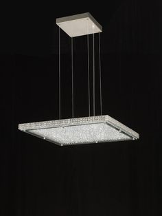 Lampara colgante Crystal LED 44w cuadrada de Mantra