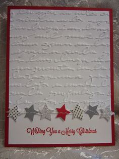 geprägte Weihnachtskarte