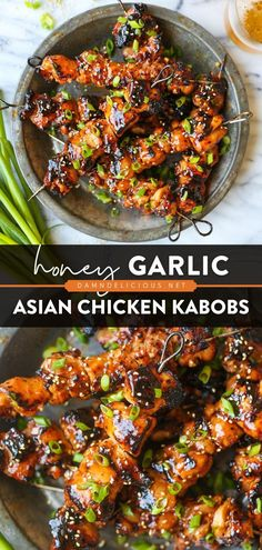 28 reviews · 3 hours · Gluten free · Serves 6 · Make the most out of the season with one of the best grilling recipes! The honey garlic marinade in this chicken recipe is to die for. Enjoy these Asian chicken kabobs with an ice-cold beer! Save this… Summer Grilling Recipes, Healthy Dinner Recipes, Summer Chicken Recipes, Asian Chicken Recipes, Asian Dinner Recipes, Easy Asian Recipes, Recipes For Canned Chicken, Main Meal Recipes, Food Recipes Summer