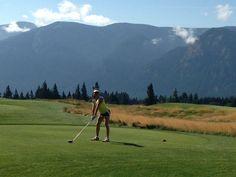 Golfing at Carson River Valley, Washington.