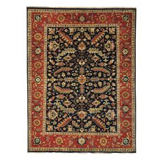 1800getarug Handmade Antiqued Heriz Recreation Rug