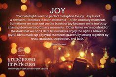 Brene Brown #giftsofimperfections #wordoftheyear #joy