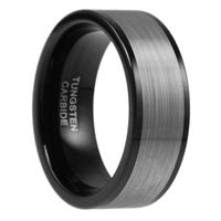9mm wide, Brushed Finished, Black Tungsten Carbide Ring, Wedding Band, Men Ring, Anniversary Rring, Comfort Fit, Scratch Resistant