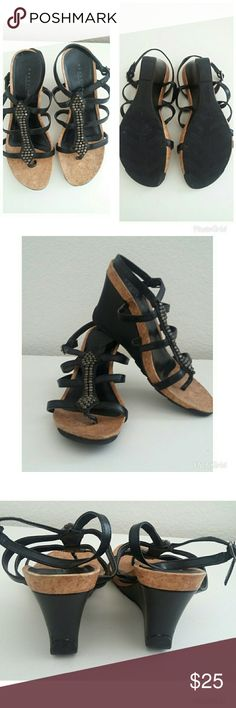 Kenneth Cole Reaction Wedge Sandals Buckle Strap