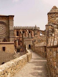 Avila – Spain's magnificent walled city, north of Madrid 110 km or so Oh The Places You'll Go, Places To Travel, Places To Visit, Madrid, Wonderful Places, Beautiful Places, Architecture Antique, Voyage Europe, Walled City