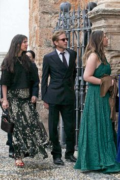 Tatiana Santo Domingo and ndrea Casiraghi attends the wedding of Alejandro Santo Domingo and Lady Charlotte Wellesley