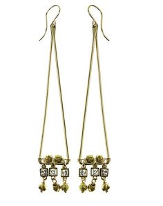 """Glittering crystals hang from the edge of these triangle shaped earrings. Accent your look with elegant sparkle while wearing these 2.75"""" long chandelier earrings. Available in 14k gold fill and sterling silver. #Nashelle #NashelleJewelry #AllureCollection #Fashion #FashionFeedingHunger #Charity #FeedingAmerica #GiveBack #Love #Jewelry #Custom #WhoWhatWear #PNWStyle #LiveAuthentic #Dazzling #Divine #Love"""