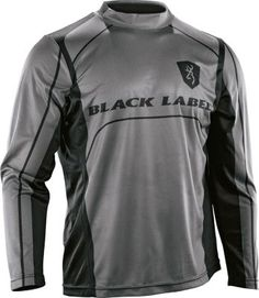 Made for mobility and moisture-wicking comfort in the heat, the Black Label Team Long-Sleeve Tee Shirt is made of lightweight and breathable 100% polyester knit.  Sizes:  S-3XL.  Color:  Black/Gray.