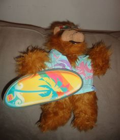 """Vintage The Many Faces of Alf Burger King Puppet Doll w/ tags 1988 Surfboard 11"""" find me at www.dandeepop.com"""