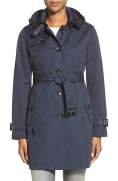 MICHAEL MICHAEL KORS Single Breasted Raincoat (Regular & Petite). #michaelmichaelkors #cloth #3 #4 or long coat