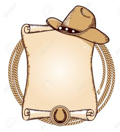 Cowboy hat and lasso.Vector American background for text Illustration , Cowboy Theme Party, Horse Party, Horse Birthday Parties, Cowboy Birthday Party, Hut Party, Anniversaire Cow-boy, Cowboy Invitations, Cowboy Baby Shower, Wild West Party