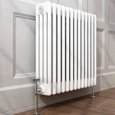 Traditional Cast Iron Style Horizontal Column Radiator White 4 Bar 600 x 600 mm | eBay