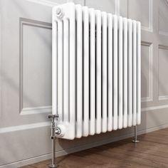 Traditional Cast Iron Style Horizontal Column Radiator White 4 Bar 600 x 600 mm | eBay