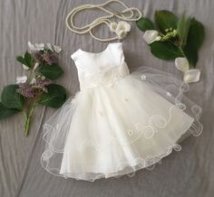 Soft White Ivory Tulle Baby Girl Dress, Baptism Speical Ocassion First Birthday Dress, Baby Boudoir Photoshoot, Fancy Frilly Girly Tulle by PurdyGurly on Etsy https://www.etsy.com/listing/234720124/soft-white-ivory-tulle-baby-girl-dress