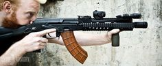 AK SBR with an Aimpoint T-1 Micro, Surefire Mini-Scout light, Magpul RVG, US Palm magazine, and Ultimak rail. |CLYDE ARMORY|