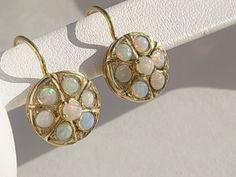 opal ear rings
