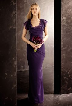 Brides.com: Bridesmaid Dresses with Sleeves | Vera Wang