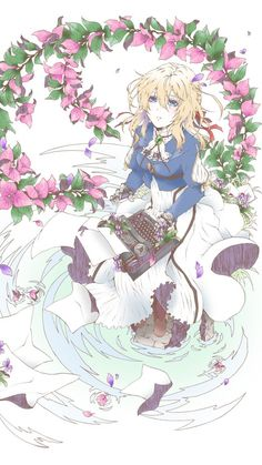 Typerwriter, anime girl, violet evergarden, 720x1280 wallpaper