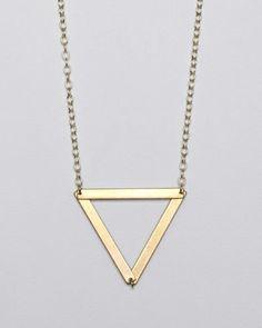 sautoir triangle <3 by Garnett Jewelry