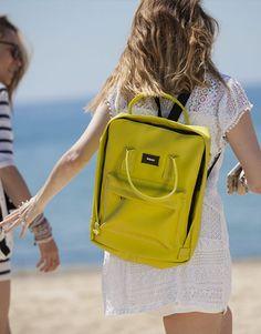 mochila verde pistacho-3 Fashion Backpack, Backpacks, Bags, Shopping, Green, Handbags, Taschen, Purse, Purses