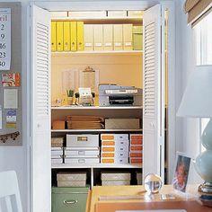 closet office storage. definitely doing this.