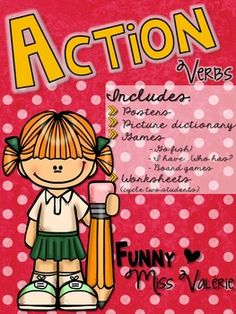 Here's what's included in this product:*** A total of 42 colorful posters of 21 action verbs: (present participle, simple present, simple future, simple past)- To cook- To dance                   - To draw- To drink- To eat- To listen- To paint- To pay- To play- To read- To run- To sing- To shop- To sleep- To speak- To study- To swim- To talk- To travel- To watch- To write*** An action verbs picture dictionary*** 42 cards to play Go Fish!, a memory or a miming game *** 31 cards to play I…
