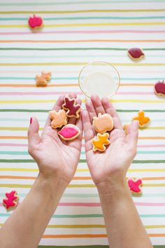 Mini Colorful Leaf Cookies (picture by Lovely Indeed)