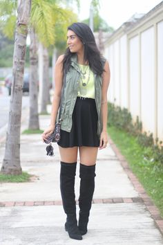 look do dia colete militar bota over the knee borboletas na carteira-3